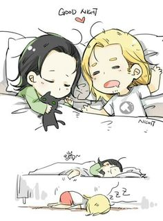 "Thor & Loki ""brothers"" (Cute Cartoon)"