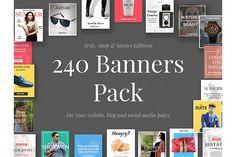 240 Banners Pack from DesignBundles.net