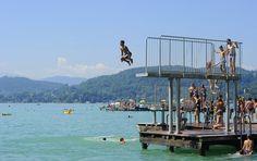 Fun at Klagenfurt beach resort - lake Wörthersee. Photo: Helge Bauer Klagenfurt, Beach, Places, Summer, Life, Beautiful, Summer Time, The Beach, Verano