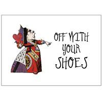 Party Ideas UK Off with your shoes sign