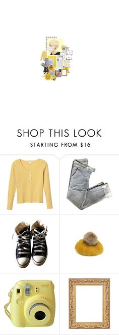 """""""*:・゚☾ your aesthetic -yellow ver.-"""" by softsounds ❤ liked on Polyvore featuring Monki, Converse, CA4LA and Edition"""