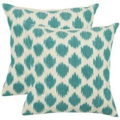 @Overstock - With a fresh, contemporary eye-catching pattern, these decorative pillows are a lovely addition to any decor. These throw pillows feature a contemporay design with a handwoven cotton cover.http://www.overstock.com/Home-Garden/Oceans-18-inch-Aqua-Blue-Decorative-Pillows-Set-of-2/5960955/product.html?CID=214117 $42.37