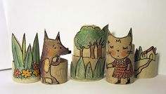 Fun craft from toilet paper rolls Toilet Roll Craft, Toilet Paper Roll Crafts, Paper Crafts, Crafts To Do, Arts And Crafts, Kids Crafts, Rolled Paper Art, Paper Toys, Paper Paper