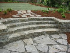 recycled concrete steps and wall--backyard or front yard :)