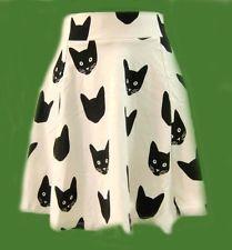 H&M Conscious Cotton Exclusive Divided Animal Cat Flrared Skrit sz XS S M RARE