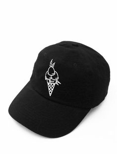 a58b3f889c330 Brrrr Black Strapback Hat  howtowearahatsnapback