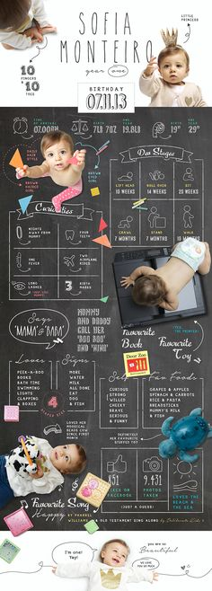 Baby Infographic - Year One on Behance