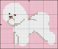 Bichon Frisé Free Cross Stitch / Knitting Dog Pattern Pixel Crochet Blanket, Tapestry Crochet, Bichon Frise, Cross Stitch Charts, Cross Stitch Patterns, Cross Stitching, Cross Stitch Embroidery, Beading Patterns, Embroidery Patterns