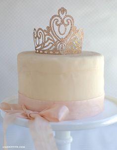 DIY Crown Cake Topper