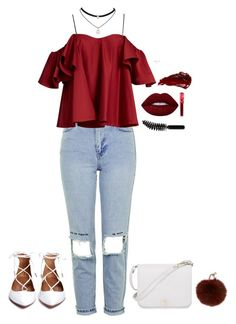 """"""""""" by cdne on Polyvore featuring Topshop, Anna October, Furla, Yves Salomon, Lime Crime, Urban Decay and LORAC"""