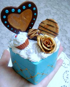 Chocolate and Cream polymer clay sweet box by Your Baby Chic, via Flickr