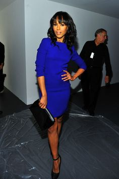 Kerry Washington in Royal Blue