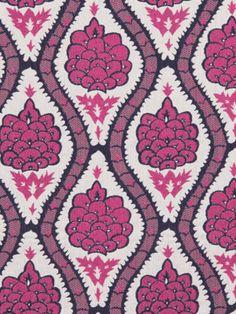 Upholstery Fabric Fuchsia Floral Modern by greenapplefabrics, $98.00