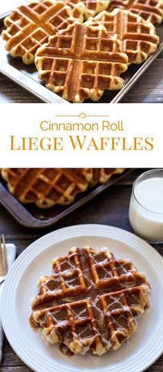 Cinnamon Roll Liege Waffles - Belgian Sugar Waffles - You've got to try these!
