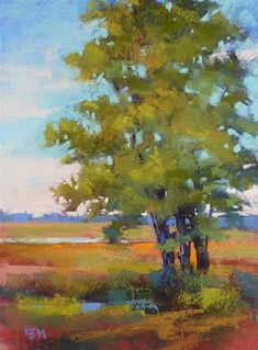 """Painting Trees this Week...Join Us!"" - Original Fine Art for Sale - © Karen Margulis"