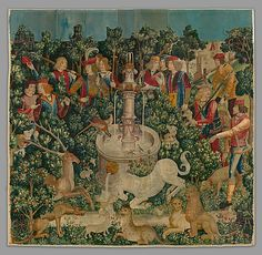 Unicorn Tapestries (The Hunt of the Unicorn) ca. 1500, The Netherlands