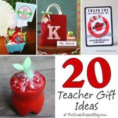 The Scrap Shoppe: 20 Teacher Gift Ideas