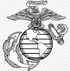 free PNG usmc emblem at getdrawings - eagle globe and anchor PNG image with transparent background PNG images transparent Usmc Emblem, Marine Corps Emblem, Marine Corps Tattoos, Marine Tattoo, Anchor Outline, Marines Logo, Military Girlfriend, Military Spouse, Special Forces