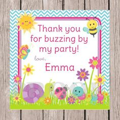 PRINTABLE Personalized Cute as a Bug Birthday Party by ciaobambino, $6.00