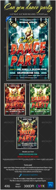 Disco Revival Flyer Template V Cs X Club Colorful