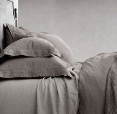 Stonewashed Belgian Linen Bedding Collection | Restoration Hardware | Color: Graphite