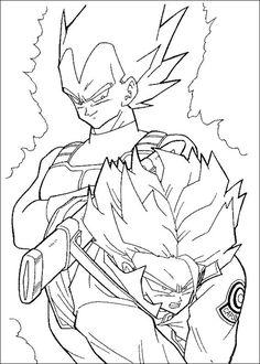 Desenhos para colorir para crianças. Desenhos para imprimir e colorir Dragon Ball Z 74
