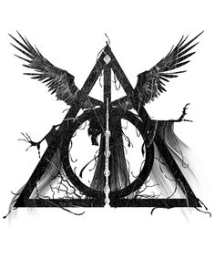 """The Deathly Hallows"" / This would be the perfect companion to my newly purchased ""The Dark Mark"" tee"