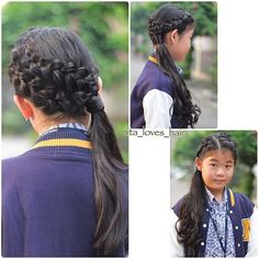 Another school style, so quick and easy I even had time to curl her hair ❤️ . . #braided_pixiefeatureme #cghphotofeature #schoolstyle #schoolhair #inspirationalbraids