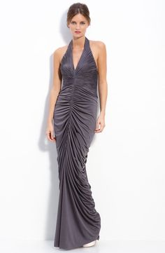 For my sister. Halter Gown, Ruched Dress, Cool Girl, Nordstrom, Saree, Gowns, Boutique, Formal Dresses, My Style