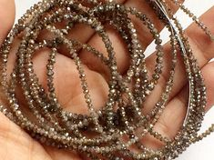 4 Inch Brown Sparkling Diamonds Brown Faceted by gemsforjewels
