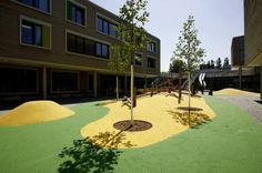 """The Educational Center """"Gateway to the World"""", a project located in Wilhelmsburg, a city quarter of Hamburg, is the result of a two stage. Playground, Golf Courses, Sidewalk, Landscape, Terrains, Hamburg, Children Playground, Landscape Planner, Education"""