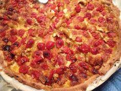 poivre, thym, pâte feuilletée, huile d'olive, mozzarella, ail, tomate cerise, sel