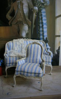 Antique Style Armchair for dollhouse by ArgusMinis on Etsy