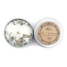 Wax Apothecary French Lavender 4oz Botanical Candle Travel Tin