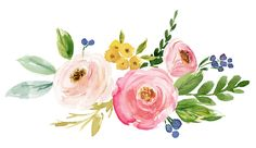 News Free Watercolor Flowers, Easy Watercolor, Watercolor Paintings, Flower Frame, Flower Art, Illustration Blume, Watercolor Projects, Decoupage Vintage, Floral Illustrations