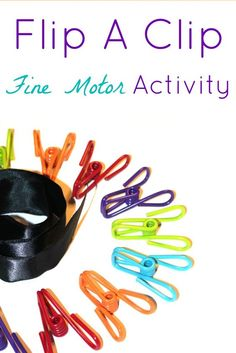 This fine motor learning activity for kids builds strength and precision in both hands.
