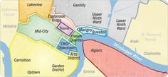 awesome New Orleans Map New Orleans Map, Nova Orleans, New Orleans Vacation, New Orleans Homes, New Orleans Travel, Louisiana Map, New Orleans Louisiana, New Orleans With Kids, Jefferson Parish