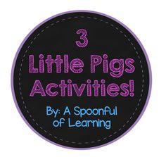 3 Little Pigs   Pete the Cat   FREEBIES!!! = FUN!!!