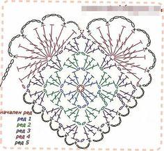 Beautiful Jewelry Unique 44 Ideas for crochet heart amigurumi. Beautiful Jewelry Unique 44 Ideas for crochet heart amigurumi Crochet Diy, Crochet Doily Patterns, Crochet Diagram, Crochet Chart, Crochet Squares, Thread Crochet, Crochet Gifts, Crochet Motif, Crochet Doilies