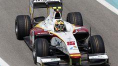 Rio Haryanto, Campos, GP2 testing, Yas Marina, 2015