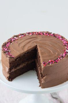 Classic Chocolate Cake Recipe #valentinesday #GhirardelliVday #CG