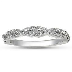18K White Gold Luxe Twisted Vine Diamond Ring (1/4 ct.tw.) from Brilliant Earth - maybe also white gold? so pretty and matches engagement band