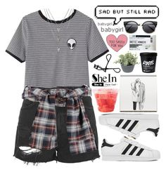 """""""#474 Grunge"""" by mia5056 ❤ liked on Polyvore featuring Topshop, adidas and Bobbi Brown Cosmetics"""