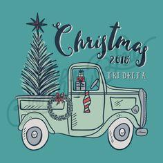 Christmas Tee Shirt Design | Tri Delta | Delta Delta Delta | Holiday Tee Shirt…