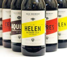 Cale Brewery – Oh Beautiful Beer Craft Beer Brands, Craft Beer Labels, Beverage Packaging, Bottle Packaging, Brand Packaging, Beer Label Design, Beer Brewing, Bottle Design, Packaging Design Inspiration