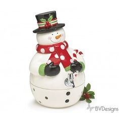 Snowman shaped hand painted ceramic beverage dispenser. Christmas Table Decor, Christmas Home Decor, Christmas Gifts