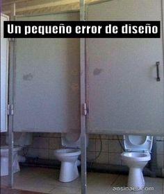 Fotos Chistosas - Un pequeño error de diseño. The doors are a bit too high for me.