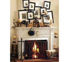 Spooky and Creepy Fire Place for Halloween Ideas