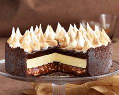 Triple-Choc Cheesecake with Salted Peanut Caramel