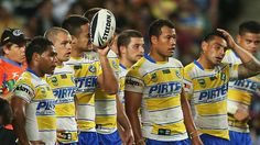 IT was Parramatta's night of shame. A performance of embarrassment and humiliation.    The Sydney Roosters scored nine tries last night to post an historic 50-0 win over the Eels before 18,014 stunned fans at Allianz Stadium.